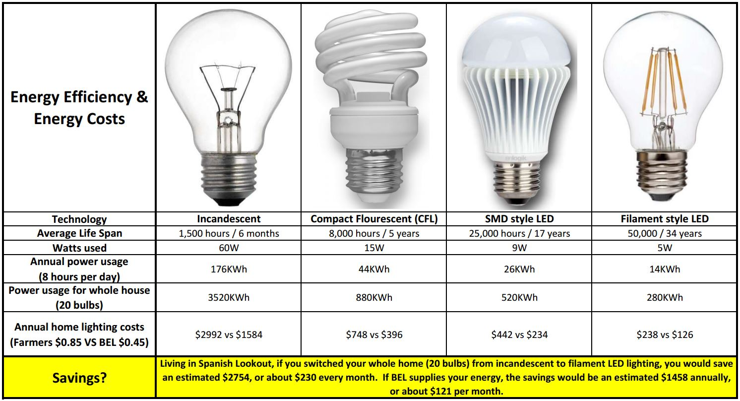 How Much Money Can Led Light Bulbs Save You In Belize